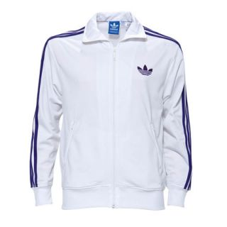 Adidas Originals Adicolor Firebird Track Jacket White Purple X41199 $