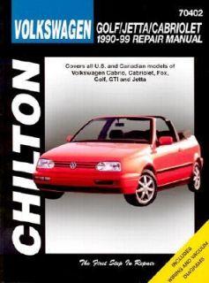 Volkswagen Golf, Jetta, and Cabriolet, 1990 98 by Chilton Automotive