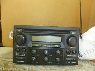 98 02 Honda Accord Radio Cd Player with Theft Code 39100 S84 A210