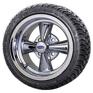 American Muscle Works 9 391F Cragar SS Golf Cart Wheel and Tire