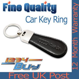 New Finest Quality Audi Leather Car Keyring Key Ring Fob