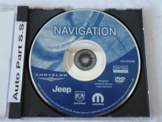 CHRYSLER DODGE JEEP MOPAR 100% original GPS DVD NAVIGATION DISC Part