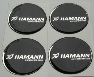 BMW HAMANN 4x60mm Wheel Center 3D Logo Emblem Sticker Decal