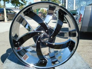 INCH VELOCITY 825 CHROME & BLACK RIMS AND TIRES CADILLAC SEVILLE /STS