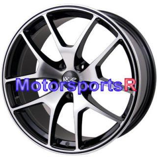 16 XXR 518 Black Machine Face Rims Wheels 00 01 Kia Rio Spectra 03 06
