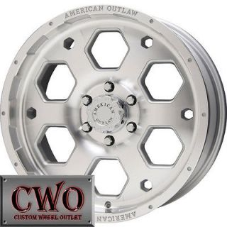 16 Silver AO Colt Wheels Rims 5x139.7 5 Lug Dodge Ram Durango Dakota