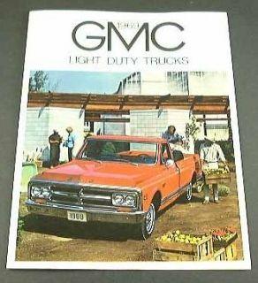 1969 69 GMC TRUCK BROCHURE Pickup Fenderside Wideside Suburban