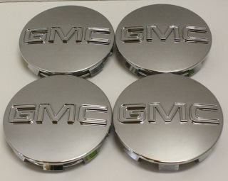 GMC Sierra Yukon Denali Center Caps 9595759 OEM 3 1/4 in Fits 18 20 22