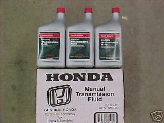 HONDA GENUINE MANUAL TRANSMISSION FLUID (12)