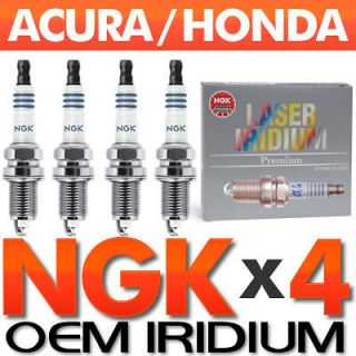 Honda Fit NGK Laser Iridium Spark Plugs OEM 4 Piece Set 1.5L 2007 2008