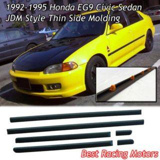 Honda Civic 92 95 4DR Sedan Door Side Molding Trim Panel Clips JDM