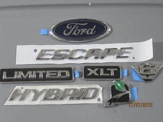 FORD ESCAPE HYBRID EMBLEMS   OEM   Brand New (UNUSED) Leaf V6