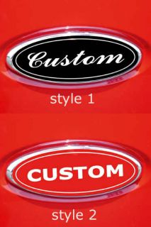 CUSTOM MADE FOR FORD EDGE OVAL EMBLEM OVERLAY DECALS