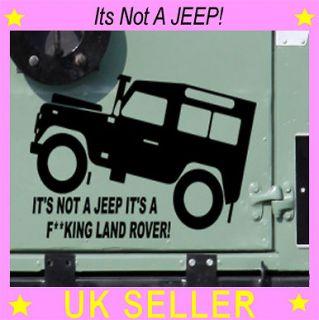 Funny Land Rover Sticker Jeep Car TD5 Art Vinyl Graphics Sticker