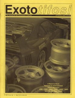 Model Catalogue 2003  Ferrari F40, GT40, Lotus 72, DBR1, 250 GT SWB