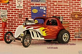 18 GMP FIAT Topolino RED with flames Toms Garage NEW