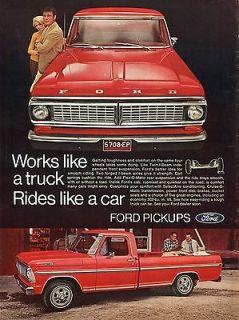 1969 Ford Ranger Pickup Truck Ad