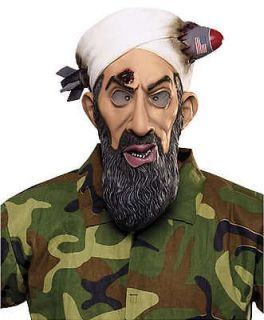 Adult Osama Bin Laden Missile Head Famous Dead Terrorist 3/4 Latex