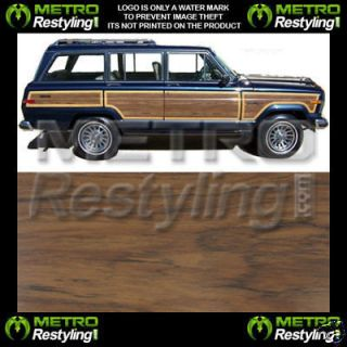 Jeep Grand Wagoneer Wood Grain Panel Vinyl 81 82 83 84