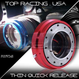 AJP Universal JDM 6 Hole Racing Steering Wheel 1.5 Thin Quick Release