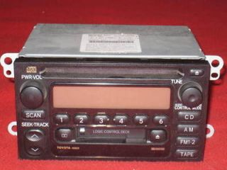 2003 Toyota Tacoma in Dash CD Radio Cassette Player OEM Good working
