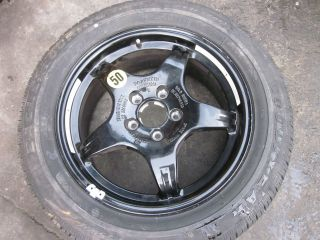 MERCEDES BENZ S55 AMG W220 17 INCH SPARE WHEEL AND TIRE OEM 2001
