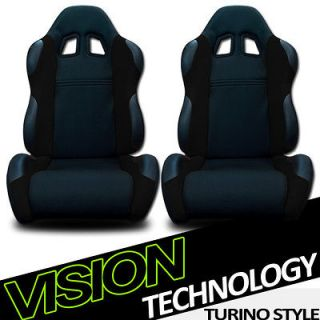 Leather Reclinable Racing Seats+Sliders 38 (Fits 1985 Oldsmobile 442