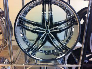 New 24 Inch Gianna Envy Wheels Chrome Black 24x10 rims
