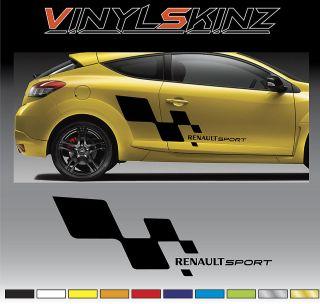 RENAULT Sport Logo Premium Decals Stickers Kit Megane Laguna Scenic