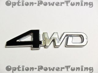 Toyota 4WD Black emblem badge sticker Logo CR V RAV4 Jeep JDM New