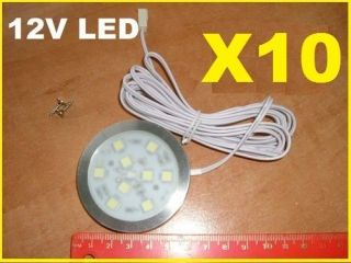 10x 12V INTERIOR LED SPOT LIGHT VW T4 T5 TRANSPORTER CAMPER VAN BOAT