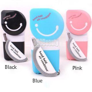 B5UT USB Mini Handheld Air Conditioner Cooler Fan 3 ColorBlack Blue