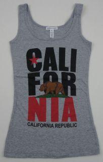 CALIFORNIA REPUBLIC Tank Top Los Angeles Cali RUN DMC Womens Juniors