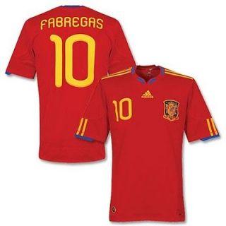 adidas SPAIN Cesc FABREGAS Official HOME JERSEY SOCCER World Cup WC