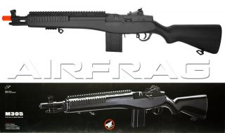 Double Eagle M305F M14 Spring Airsoft Rifle M1 Garand Socom RIS BiPod