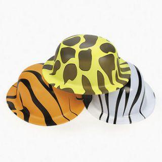 Lot of 12 Jungle Safari Animal Print Hats Party Favors