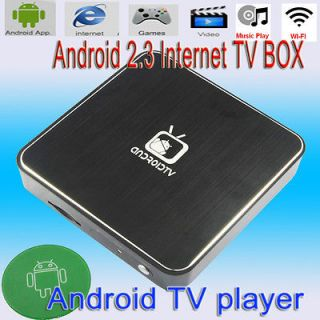 TV Box HDMI 1080P Wifi Internet TV Set Top Box MKV Media Player Black
