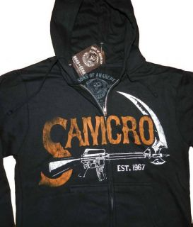 Sons OF Anarchy Authentic SAMCRO Hoodie Reaper biker club fan full zip