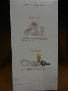 Clarisonic Pro Skin Care System Face & Body(Pink 2013) + Free Handle