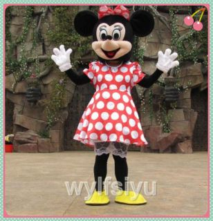 Mrs Minnie Mouse Mascot Cartoon Costume Adult Size Fancy Dress A++++