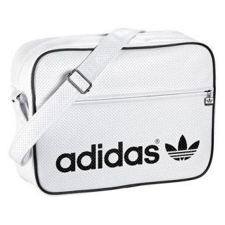 ADIDAS ORIGINALS AIRLINER BAG WHITE/BLACK Trefoil Logo shoulder