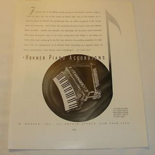 vintage hohner accordion in Accordion & Concertina