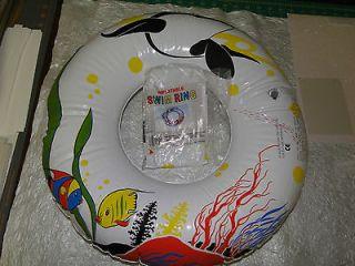 CHILD INFLATABLE SWIM RING 20, BRAND NEW, COLORFUL UNDERWATER SCENE