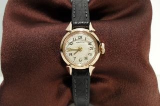 RUSSIAN VERY RARE SOLID PINK GOLD 14K MECHANICAL LADIES CHAIKA WATCH