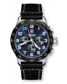 ARMY VICTORINOX Mens Air Boss 6 Automatic Chrono Blue Watch 241188.1
