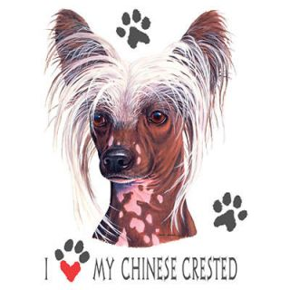 Dog T Shirt I Love My Chinese Crested Dog Shirt Tee Tank Top Hoodie