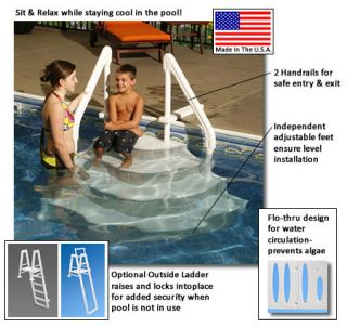 Above Ground Pool Grand Entrance Step FAST SHIP