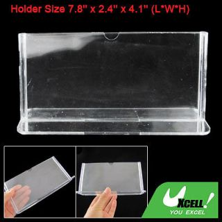 Clear Plastic Hotel Table Price Menu Photo Holder Stand