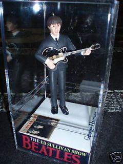 NEW! Ed Sullivan THE Beatles George in case figure/figurine/doll
