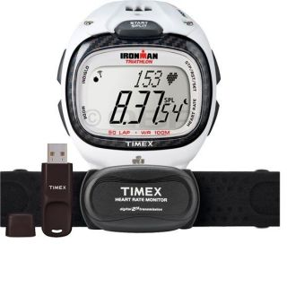 Timex Ironman Race Trainer Pro Kit Digital Heart Rate Monitor White